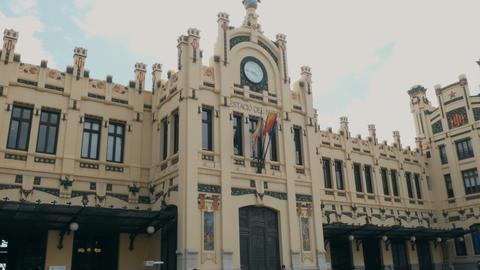 north station facade in Valencia, Spain Footage