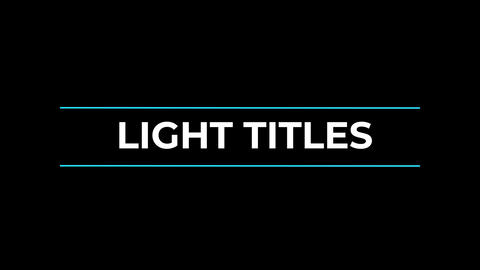 Light Titles & Lower Thirds After Effects Template