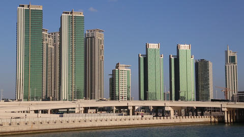 Abu Dhabi - capital and second most populous city in United Arab Emirates Footage