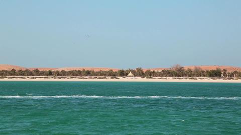 Lulu island in Abu Dhabi, United Arab Emirates Footage