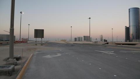 Empty road near City of Lights complex at Al Reem island in Abu Dhabi, UAE Footage