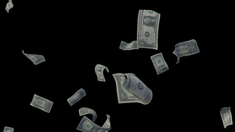 Raining Dollar Bills (With Depth Of Field) Animation