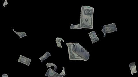 Raining Dollar Bills (With Depth Of Field) Footage