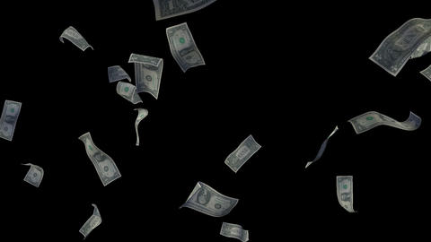Raining Dollar Bills Loop (Without Depth Of Field) Animation