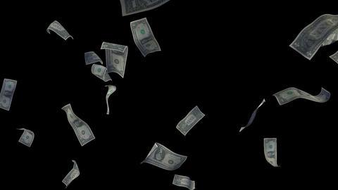 Raining Dollar Bills Loop (Without Depth Of Field) Videos animados