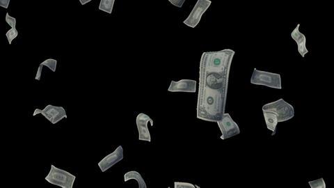 Raining Dollar Bills Loop (With Depth Of Field) Videos animados