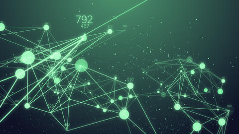Abstract Network connection concept creative motion graphic background with Animation