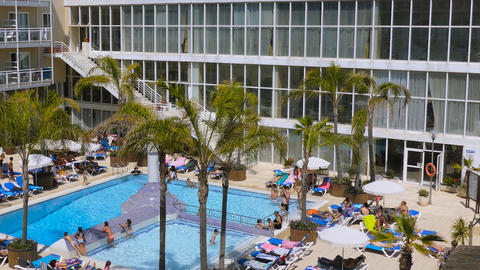 Pool At Hotel Resort Stock Video Footage