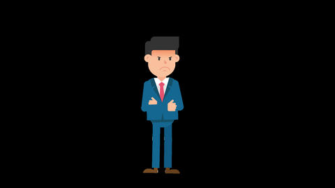 Corporate Man Being Angry Animation
