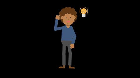 Black Man Getting an Idea Stock Video Footage