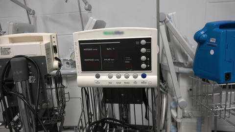 Vitals signs monitor machine Live Action