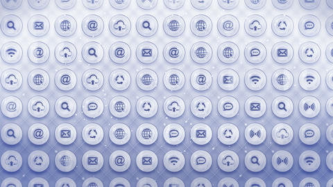 Set of Web Icons, Internet Communication Background, CG Loop Animation CG動画