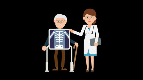 Doctor with Patient Loop Animation