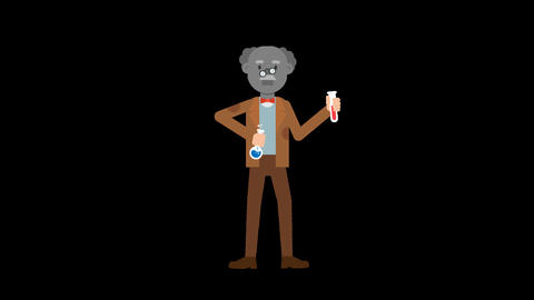 Professor Failed Experiment Loop, Stock Animation