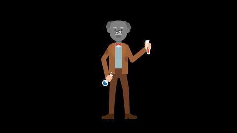 Professor Failed Experiment Loop Animation