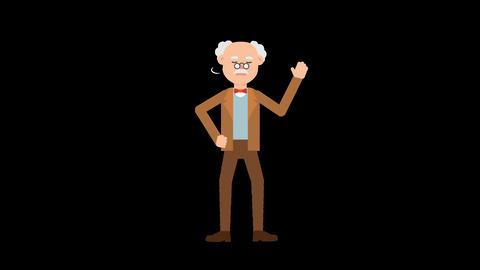 Professor Shaking his Head Animation