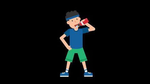 Man Drinking Water Animation