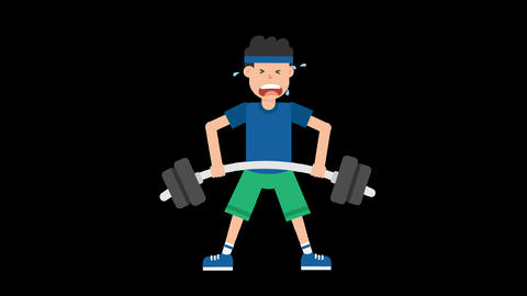 Man Lifting Barbell Animation