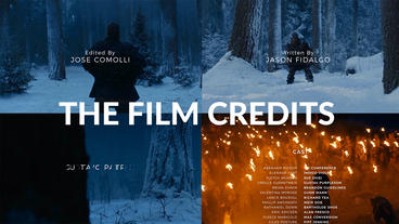 THE FILM CREDITS After Effects Template
