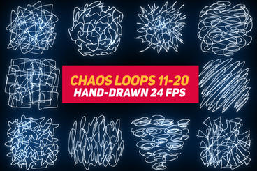 Liquid Elements 3 Chaos Loops 11-20 After Effectsテンプレート