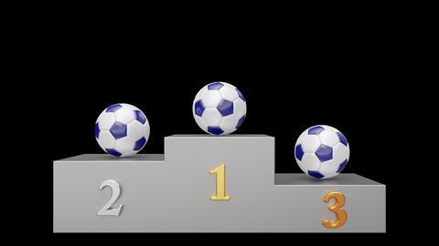 Soccer pedestal 03 looped Stock Video Footage
