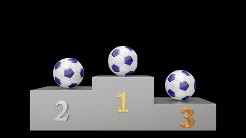 Soccer pedestal 03 looped Animation