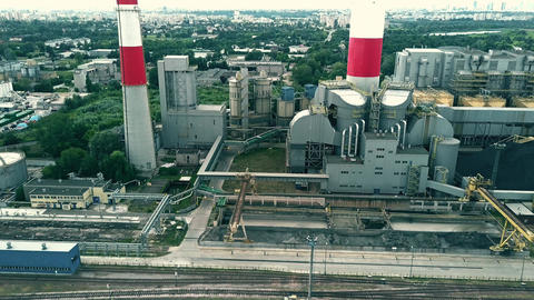 Aerial view of power station Footage