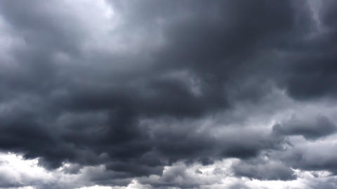 Stormy Dark Cinematic Timelapse Clouds GIF