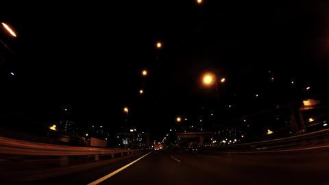 Night highway road car window ビデオ