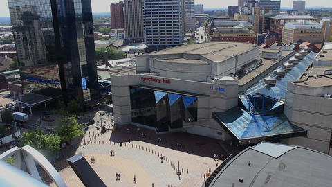 City landscape showing Centenary Square in England from above ビデオ
