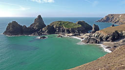 Beautiful clear day at Kynance Cove Cornwall England Archivo
