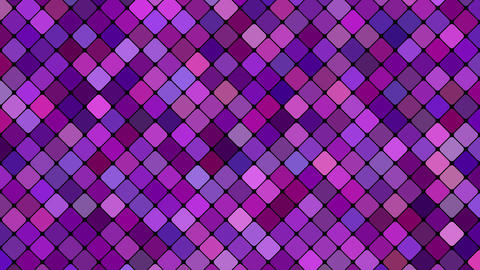 Purple abstract square mosaic pattern background - seamless loop Animation