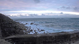 Sennen cove harbour in the evening - Cornwall, England Footage