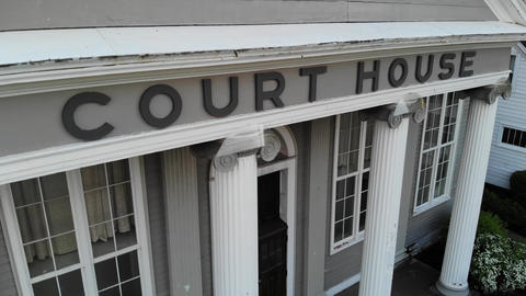 Court house in a Small Town (Wooden Ionic Columns) Footage