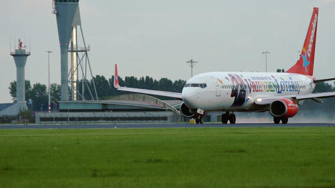 Boeing 737-804 of Corendon airlines taking off Footage