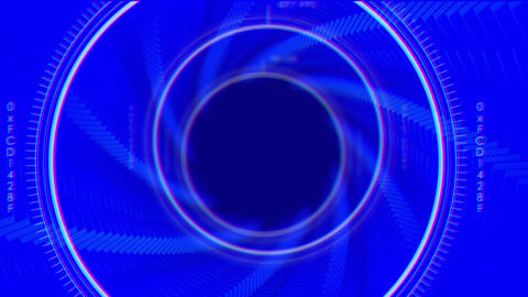 Sci-fi Blue Tunnel Stock Video Footage