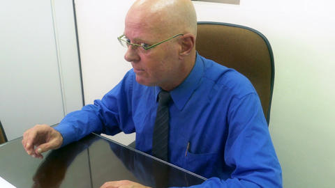 Businessman In Office stock footage