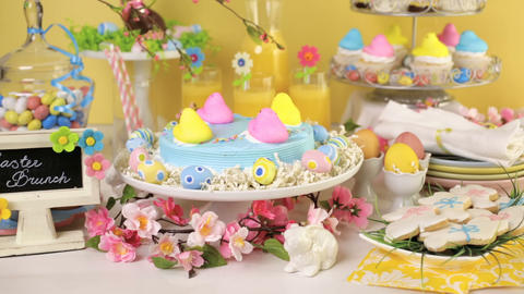 Easter brunch Stock Video Footage