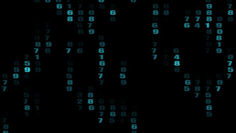 numbers in matrix Animation