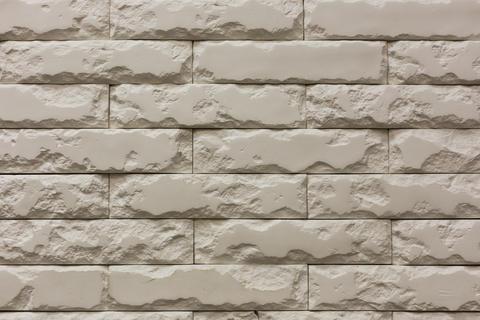 white broken stone bricks wall pattern texture background フォト