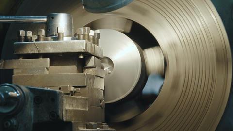 Milling machine produces metal detail Live Action