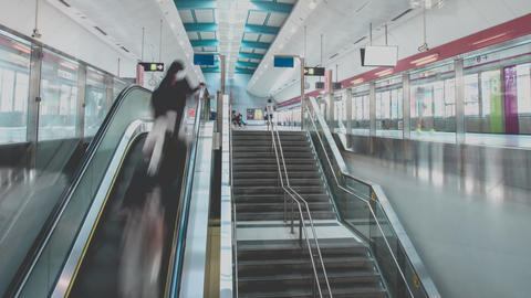 Subway Station And Unrecognizable People Footage