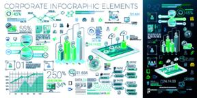 Corporate Infographic Elements Vector