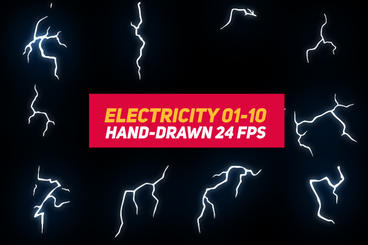 Liquid Elements 3 Electricity 01-10 After Effects Template