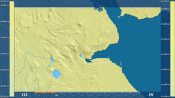 Djibouti - solar radiation, raw data Animation
