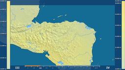 Honduras - solar radiation, raw data Animation