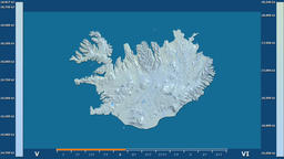 Iceland - solar radiation, raw data Animation