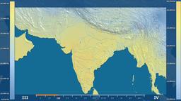 India - solar radiation, raw data Animation