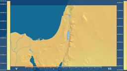Israel - solar radiation, raw data Animation