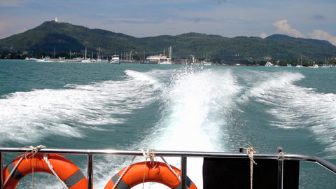 Speedboat departure from Chalong Bay, Phuket Live Action